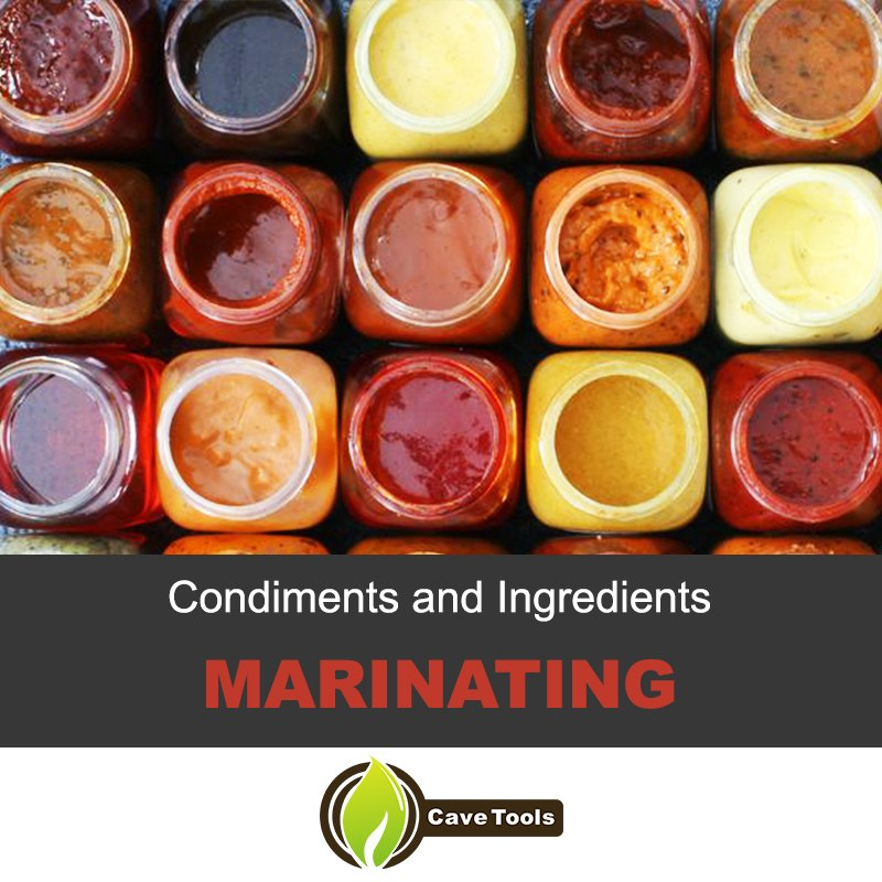 Condiments And Ingredients Marinating