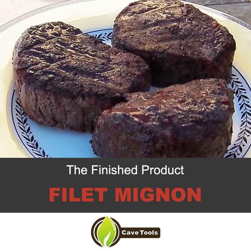 The Finished Product: Filet Mignon