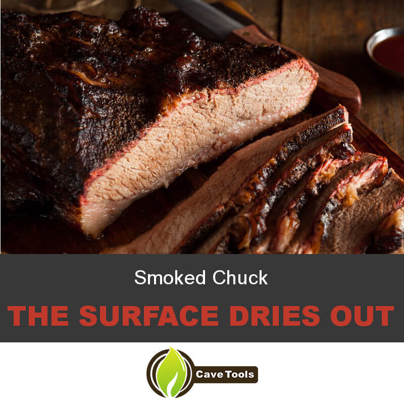 Smoked Chuck The Surface Dries Out