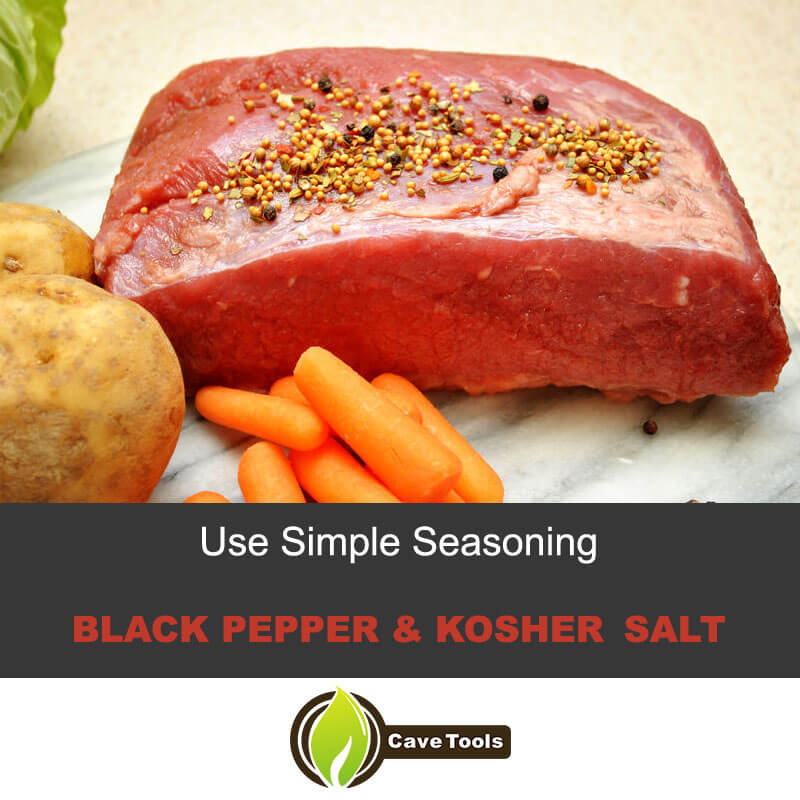 Use Simple Seasoning-Black-Pepper-Kosher-Salt