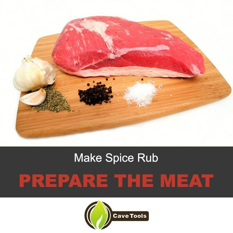 Make Spice Rub Prepare The Meat