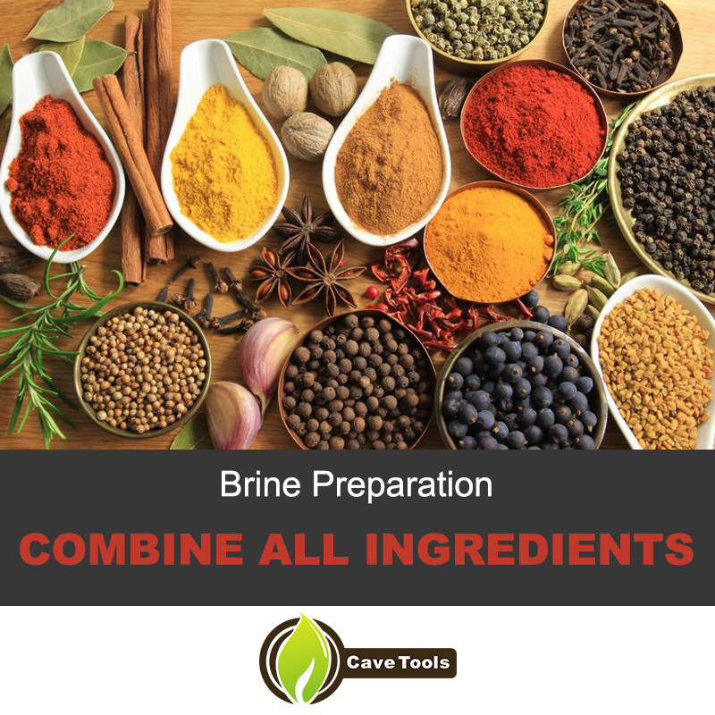 Brine Preparation Combine All Ingredients