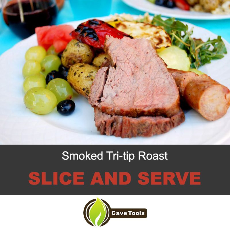 Smoked Tri Tip Roast Slice And Serve