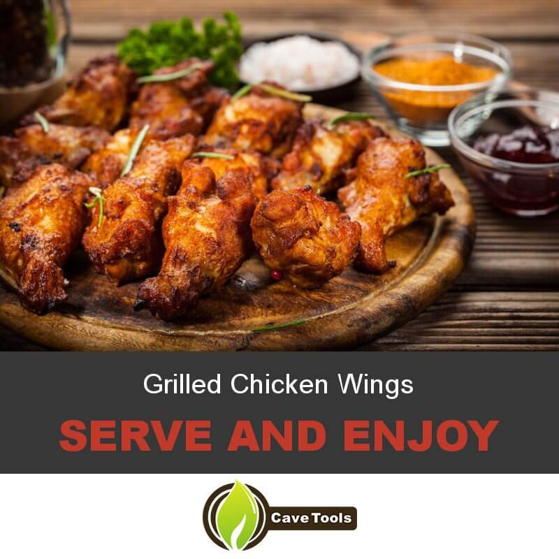 Grilled Chicken Wings Serve and Enjoy