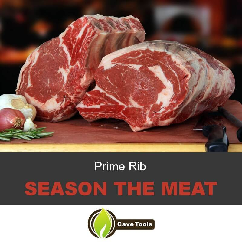 Prime Rib Season the meat