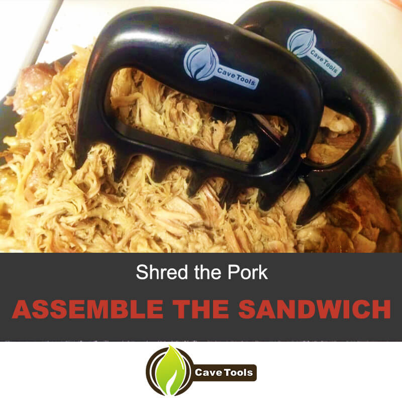 Shred The Pork Assemble The Sandwich