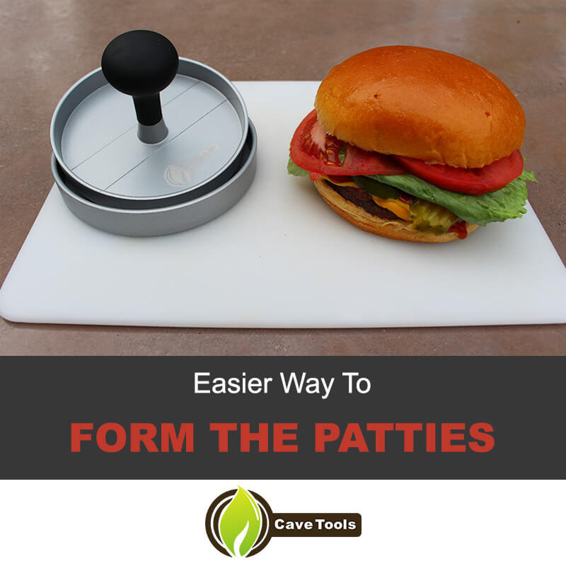 Use patty maker to form the patties