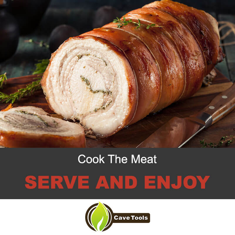 Cook the meat, serve and enjoy