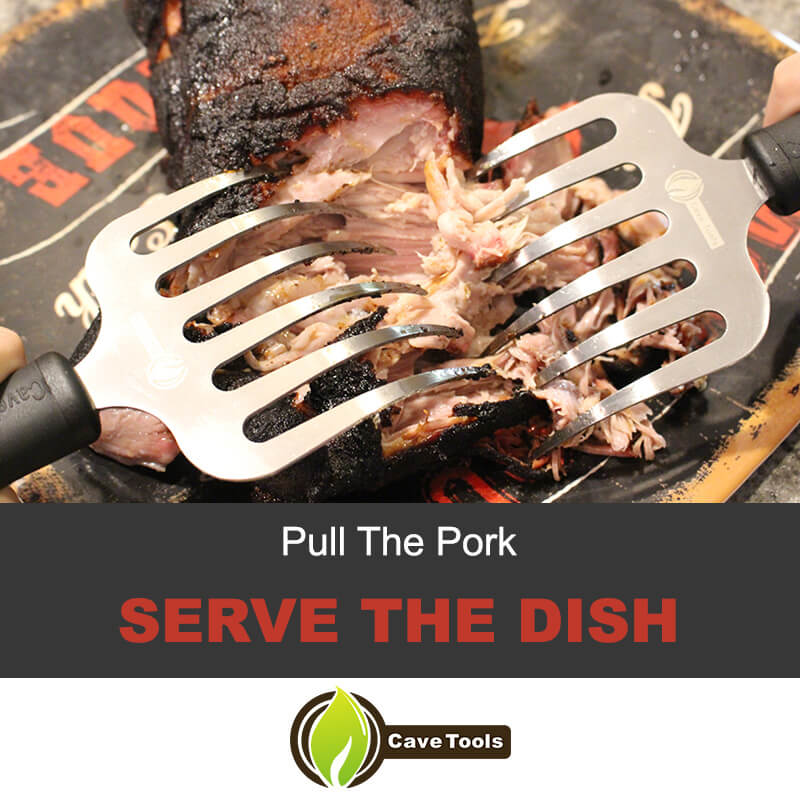 Pull the pork and serve