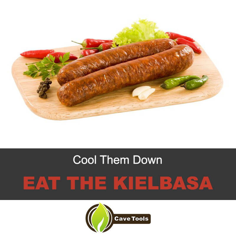 Eat the kielbasa