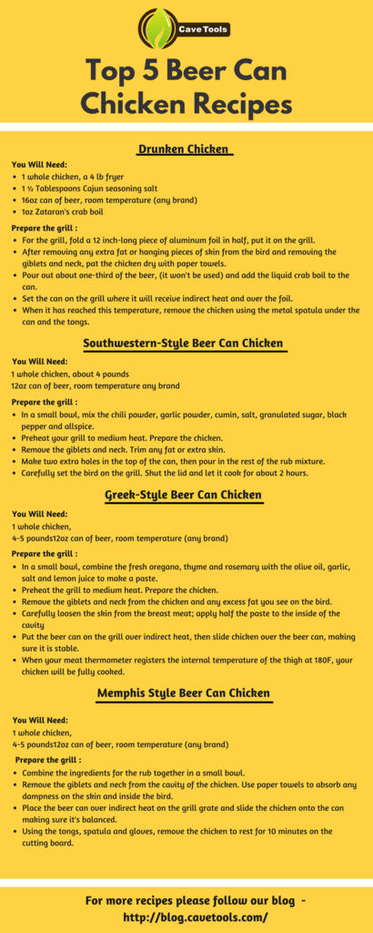 top 5 beer can chicken recipes