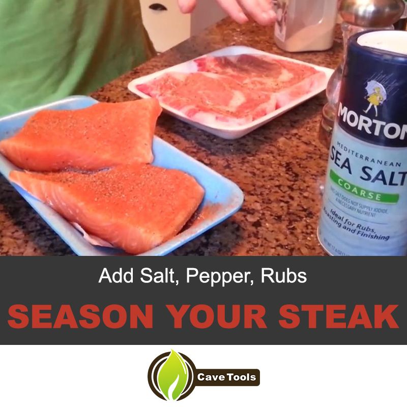Add Salt Pepper Rubs Season Your Steak