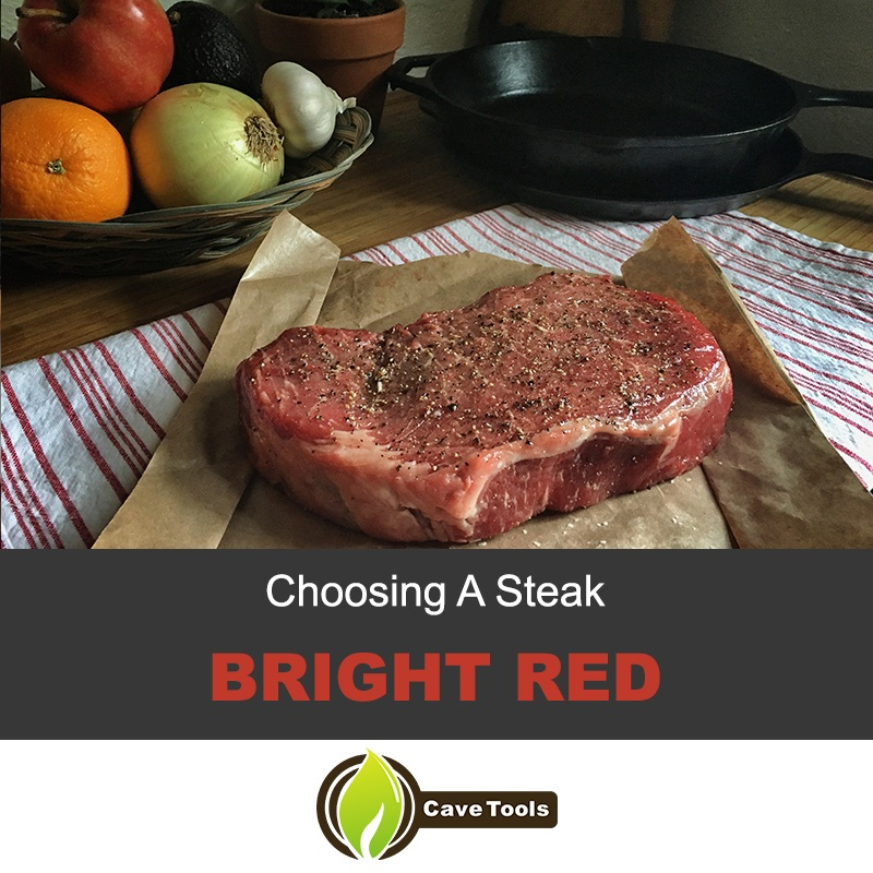 Choosing A Steak Bright Red