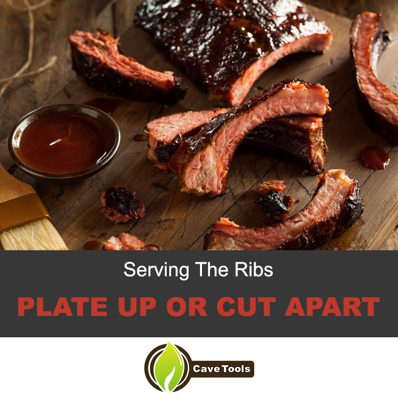 Serving The Ribs Plate Up Or Cut Apart