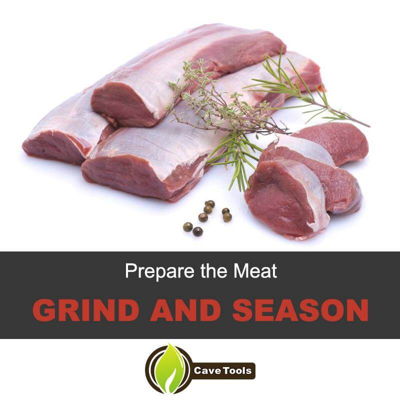 Prepare The Meat Grind And Season