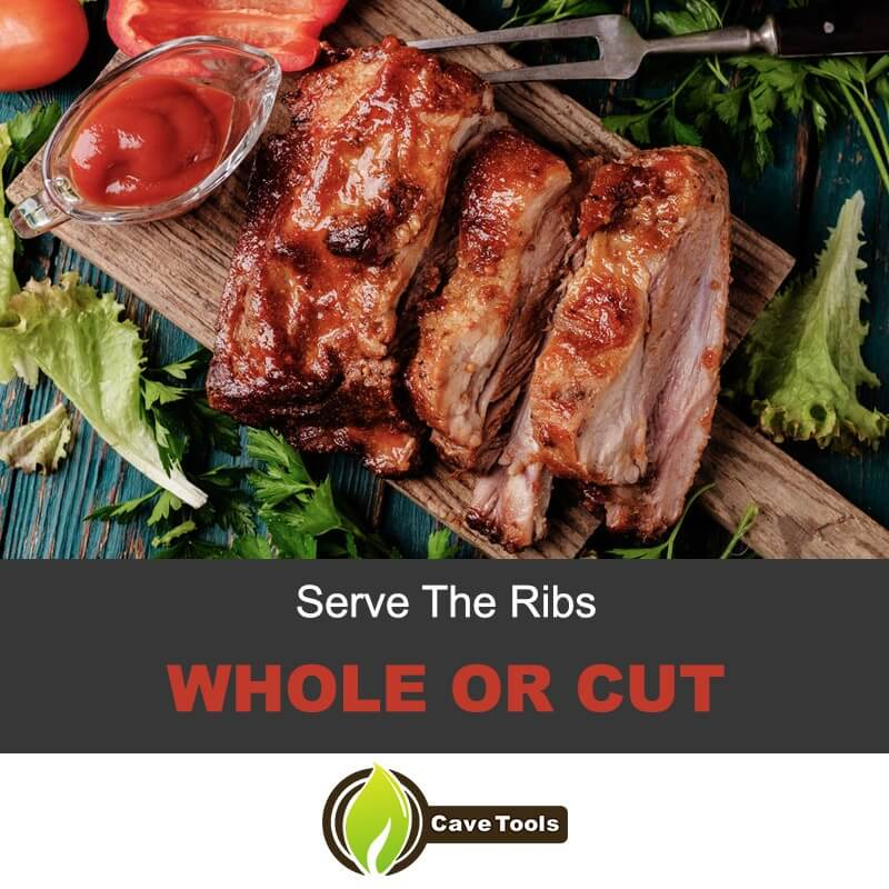 Serve The Ribs Whole or Cut