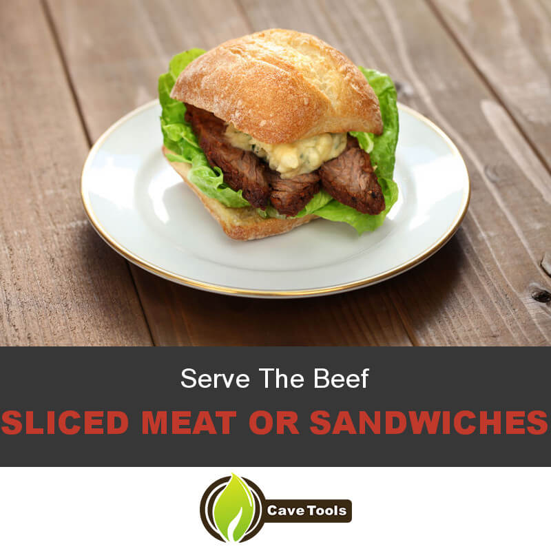 Serve The Beef Sliced Meat or Sandwiches