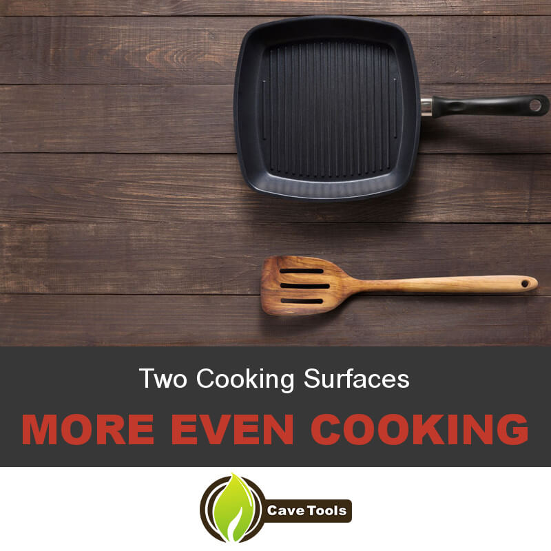 Two Cooking Surfaces More Even Cooking