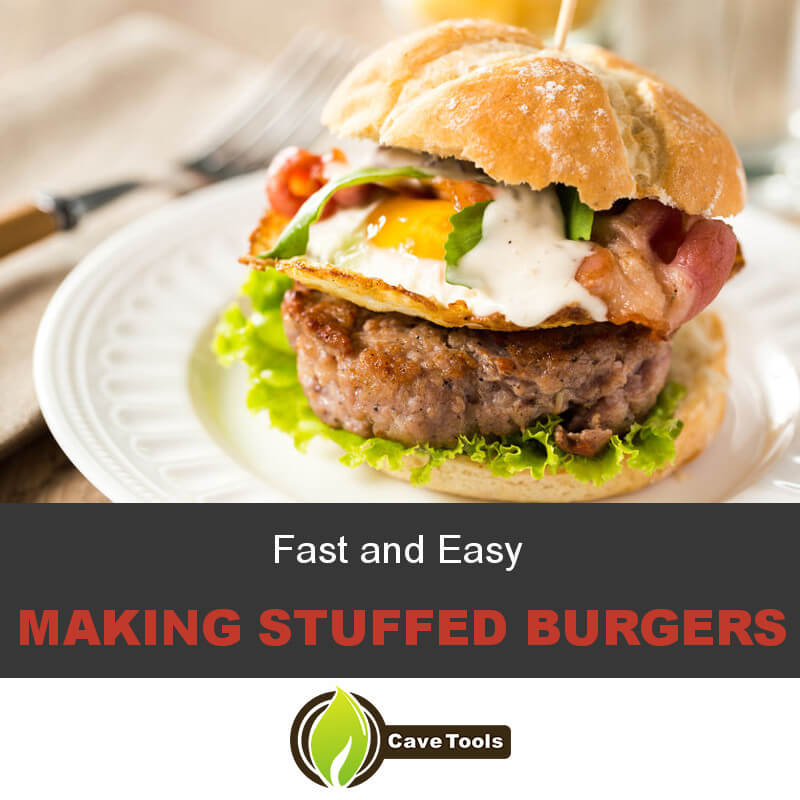 Fast and Easy Making Stuffed Burgers