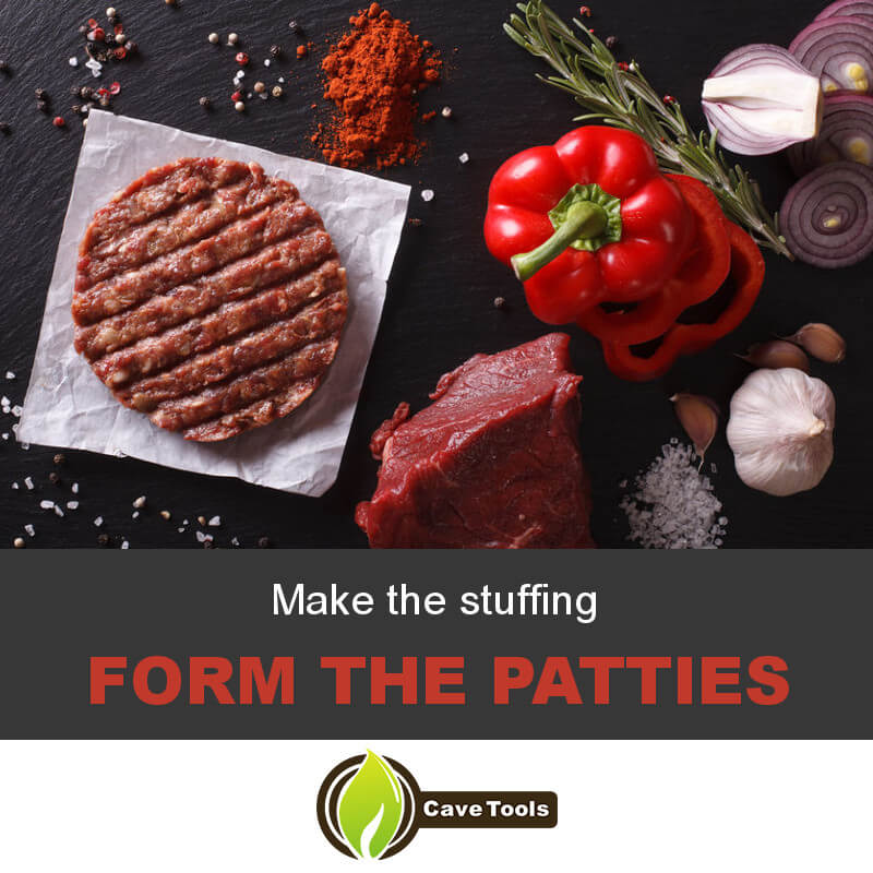 Make The Stuffing Form The Patties
