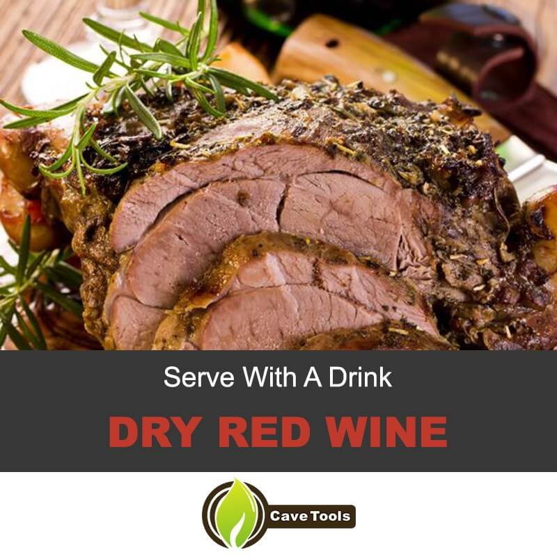 Serve With A Drink Dry red wine