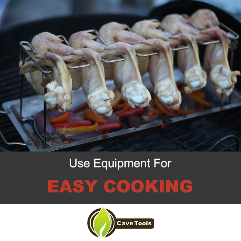 Use a wing rack for easier cooking