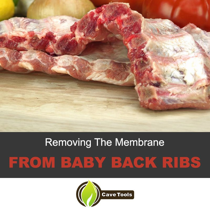 emoving membrane from baby back ribs