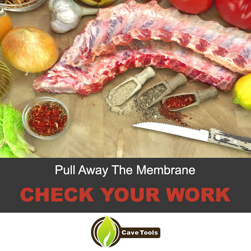 Pull away the membrane