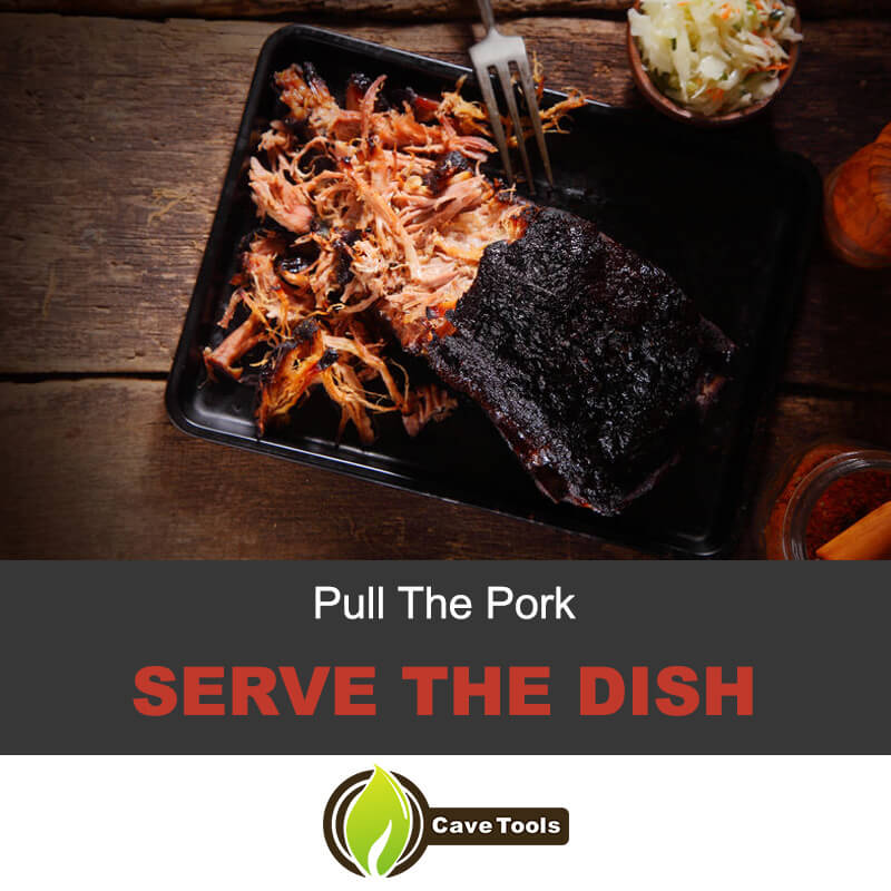 Pull the pork and serve the dish
