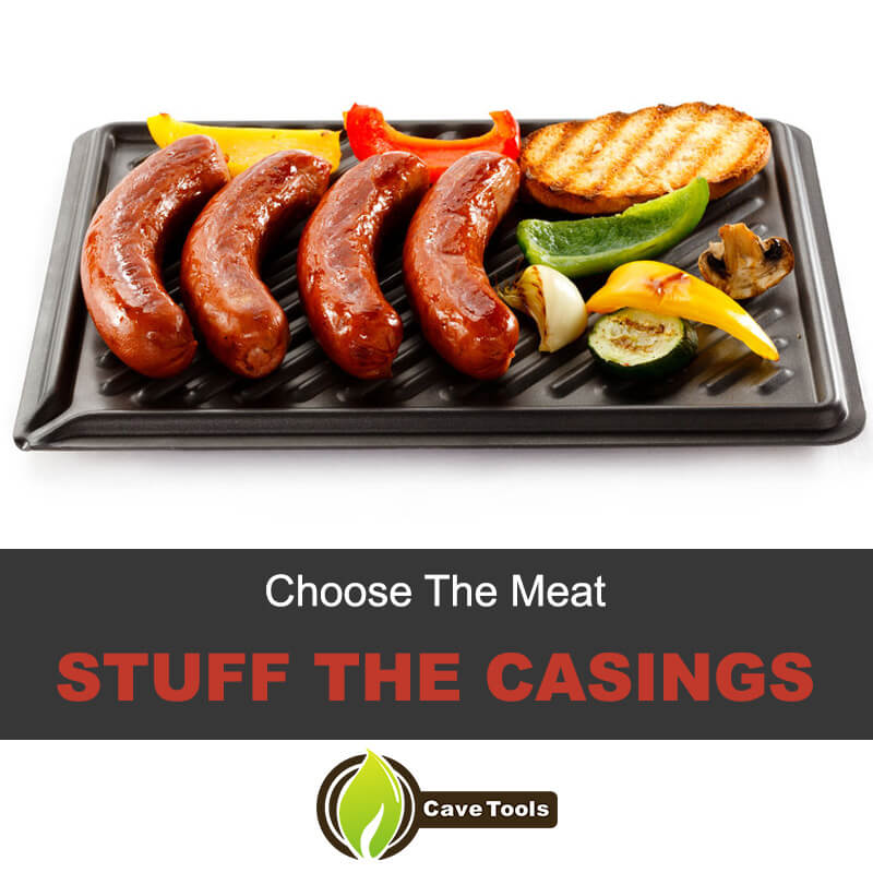 Choose the meat and stuff the casings