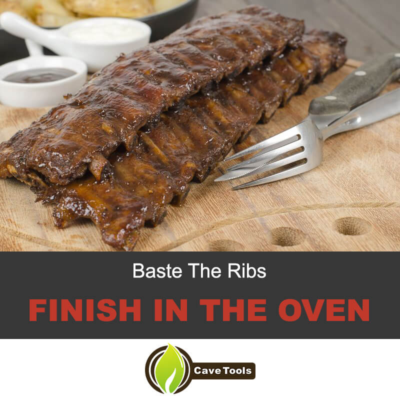 Baste the ribs