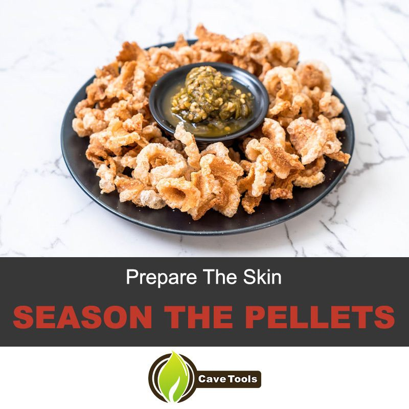 Season the pork rind pellets