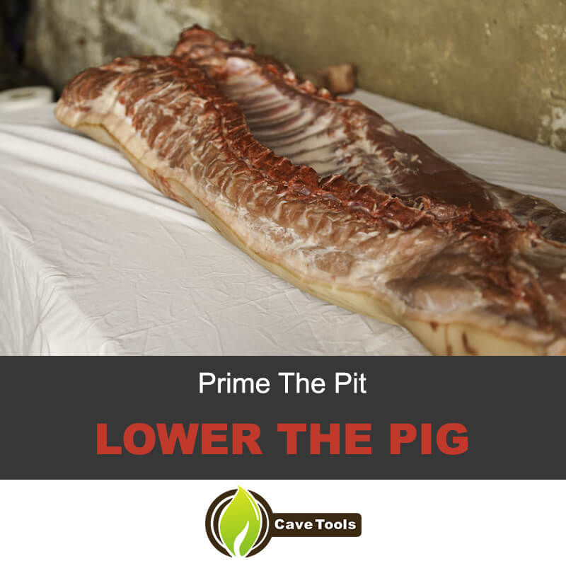 Prime the pit and lower the pig