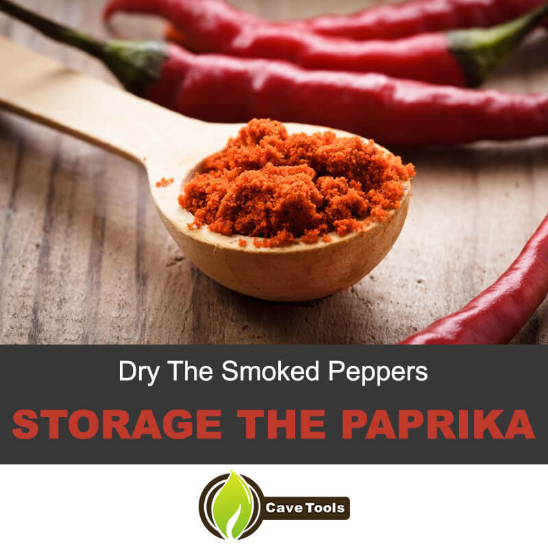 Dry the smoked peppers