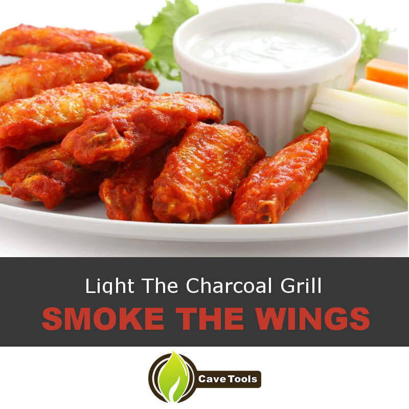 Light The Charcoal Grill Smoke The Wings