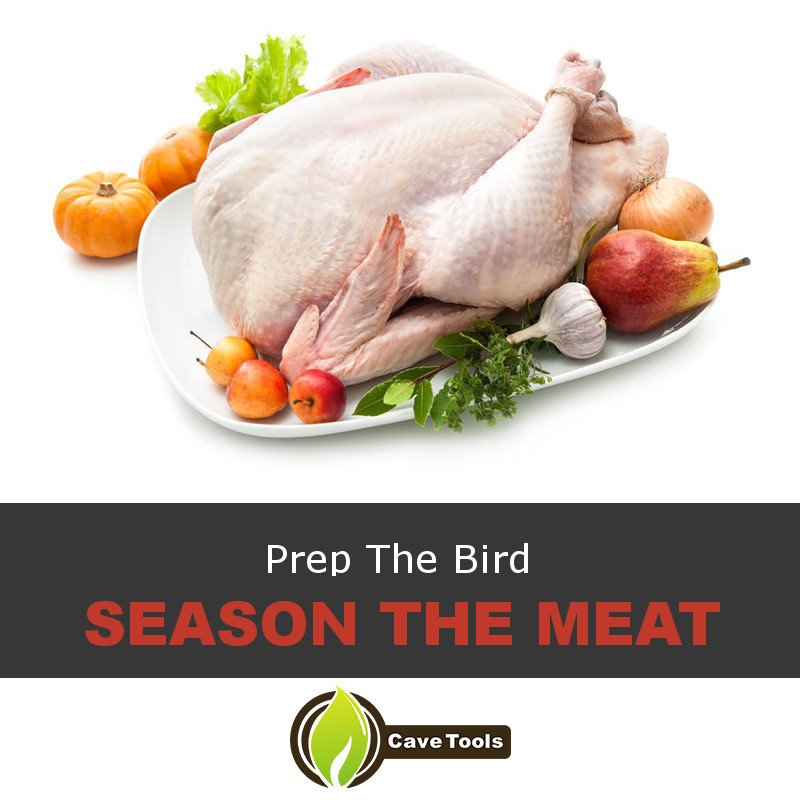 Prep The Bird Season The Meat
