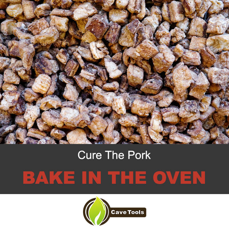 Cure the pork and bake in the oven