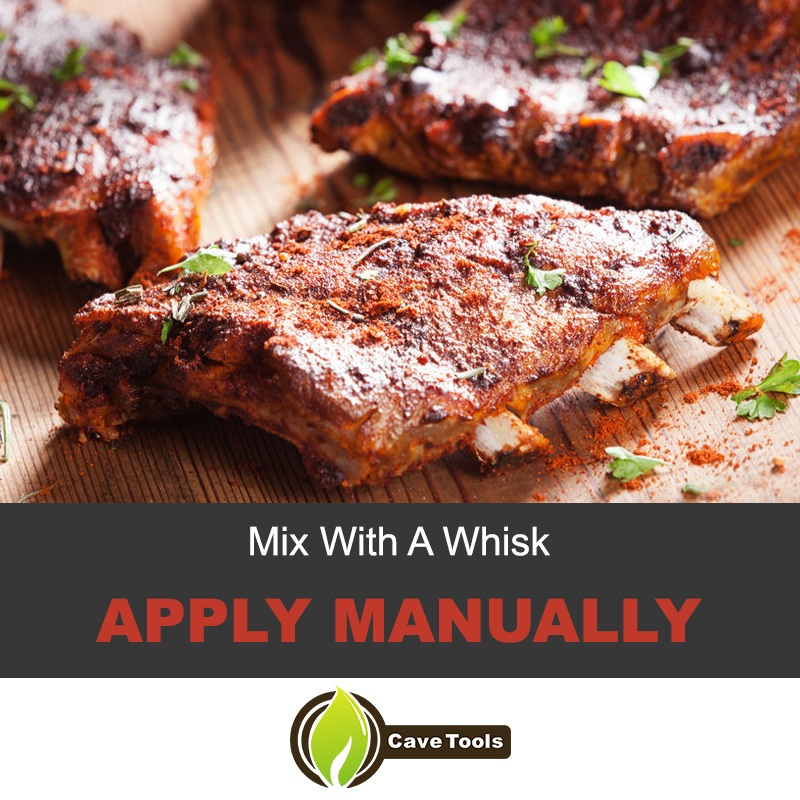 Mix your rub with a whisk