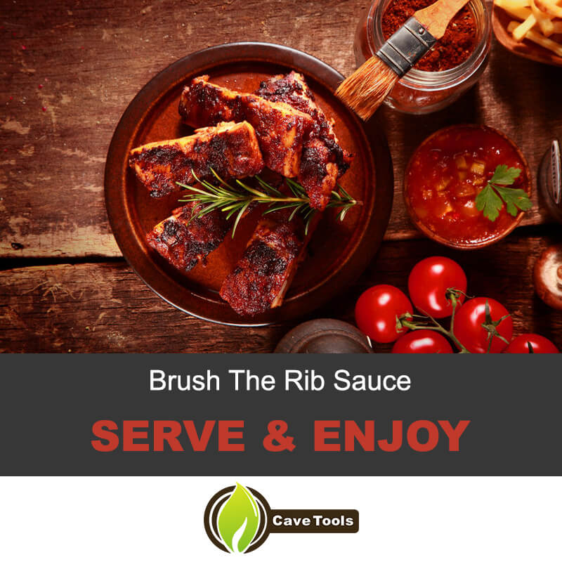Brush the rib sauce