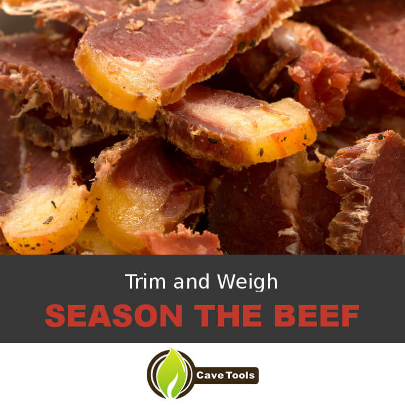 Trim and Weigh Season The Beef