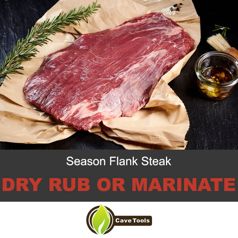 Season flank steak