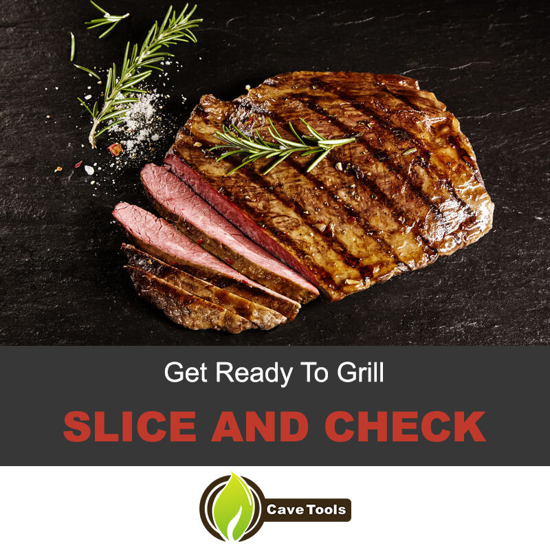 Get ready to grill the flank steak