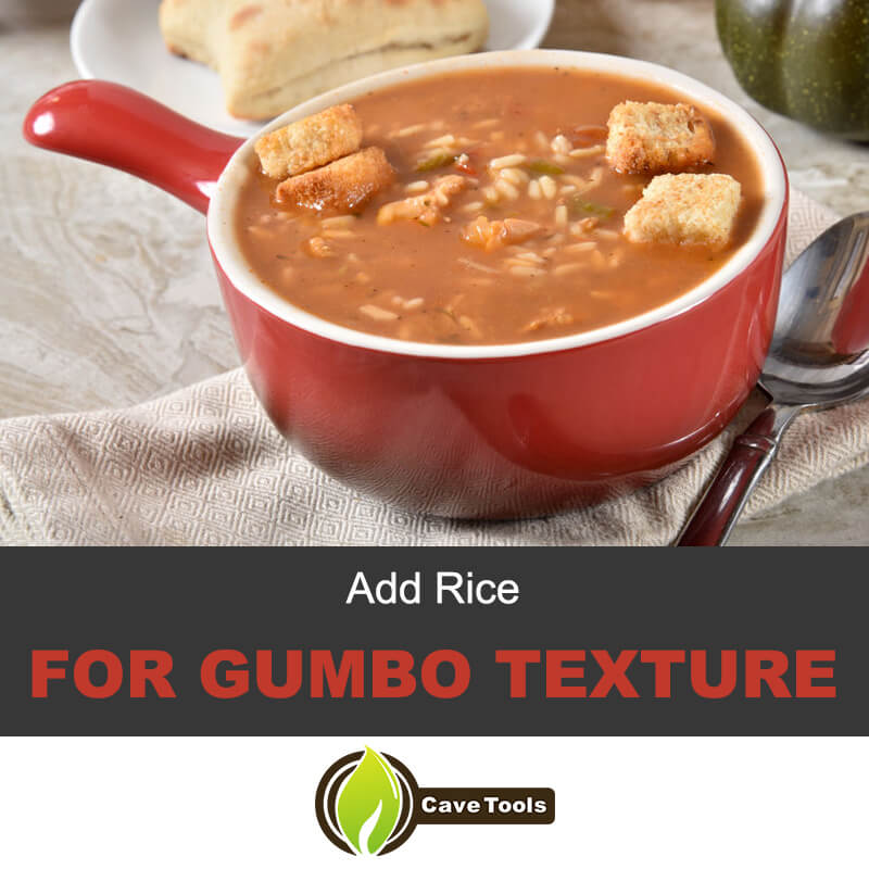 Add rice for gumbo texture