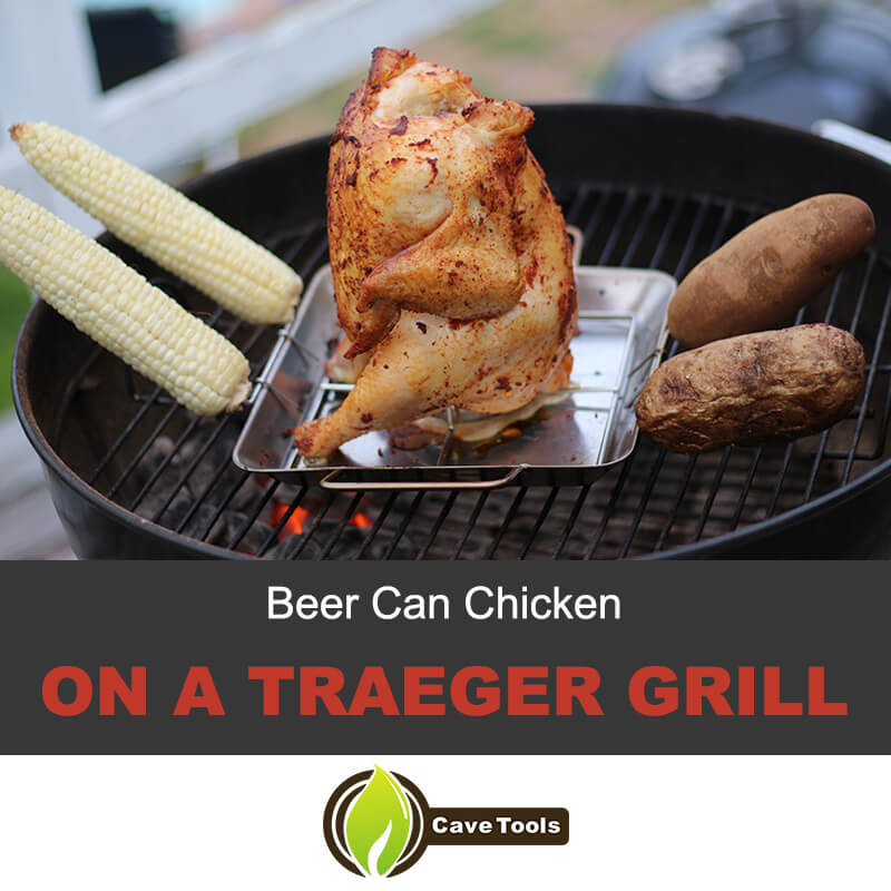 Beer can chicken on a Trager grill