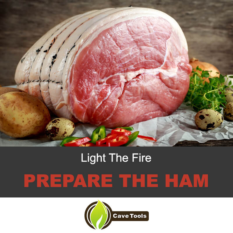 Prepare the ham for smoking