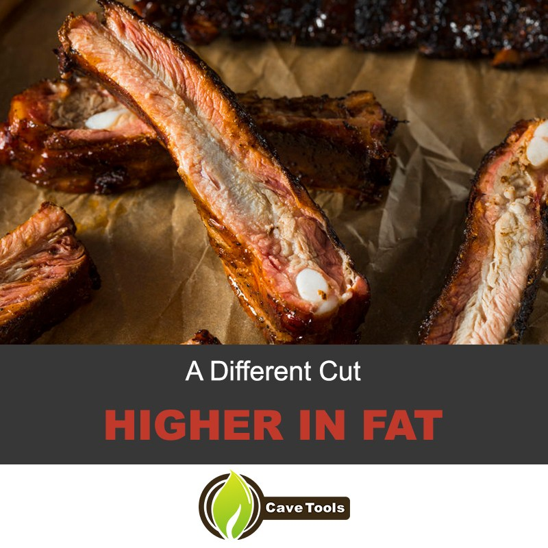 Spareribs are higher in fat