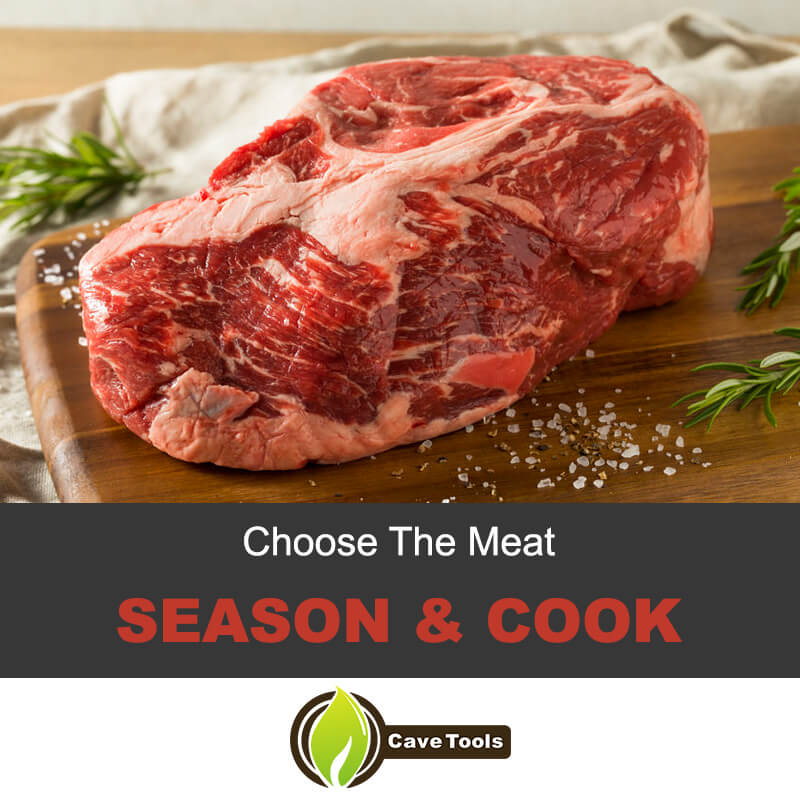 Season and Cook the meat