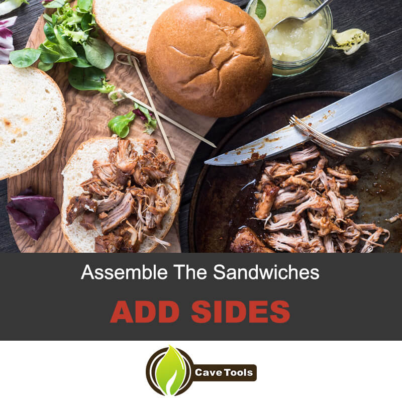 Add sides to pulled pork sandwiches