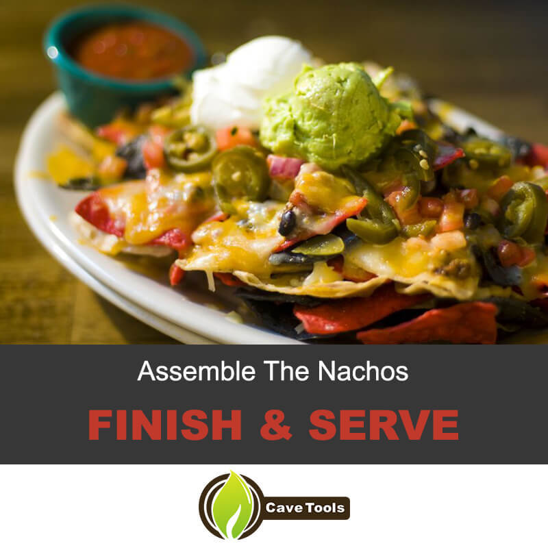 Finish and serve the nachos