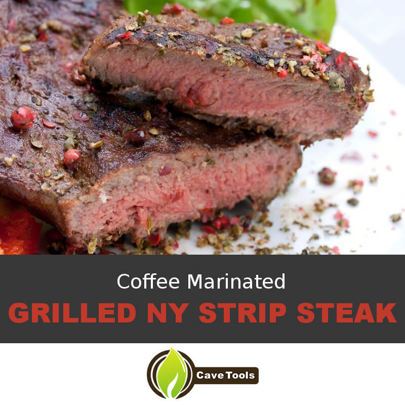 Coffee Marinated Grilled NY Strip Steak